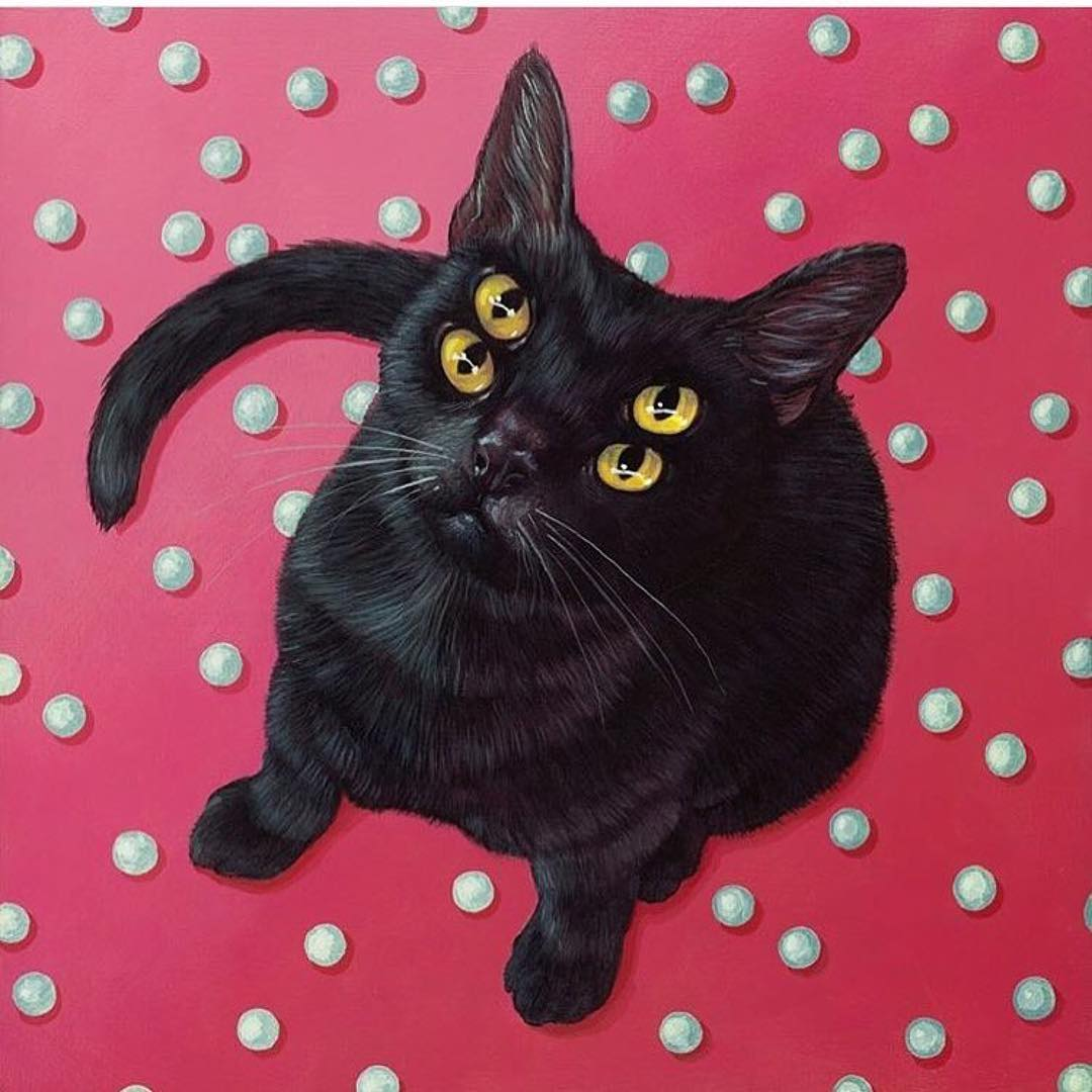 create! magazine four eyed cat painting