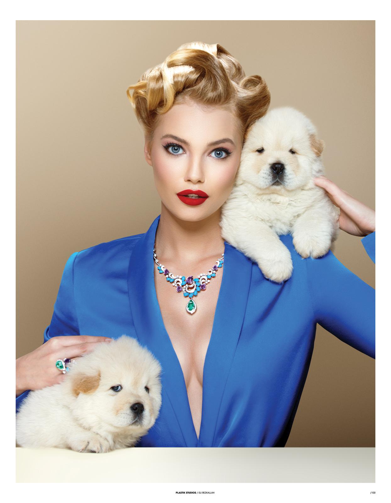 plastik magazine pets and diamonds puppy love
