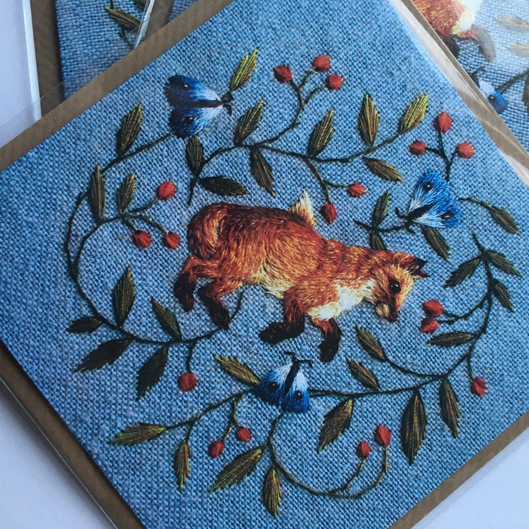 chloegiordano_embroidery fox