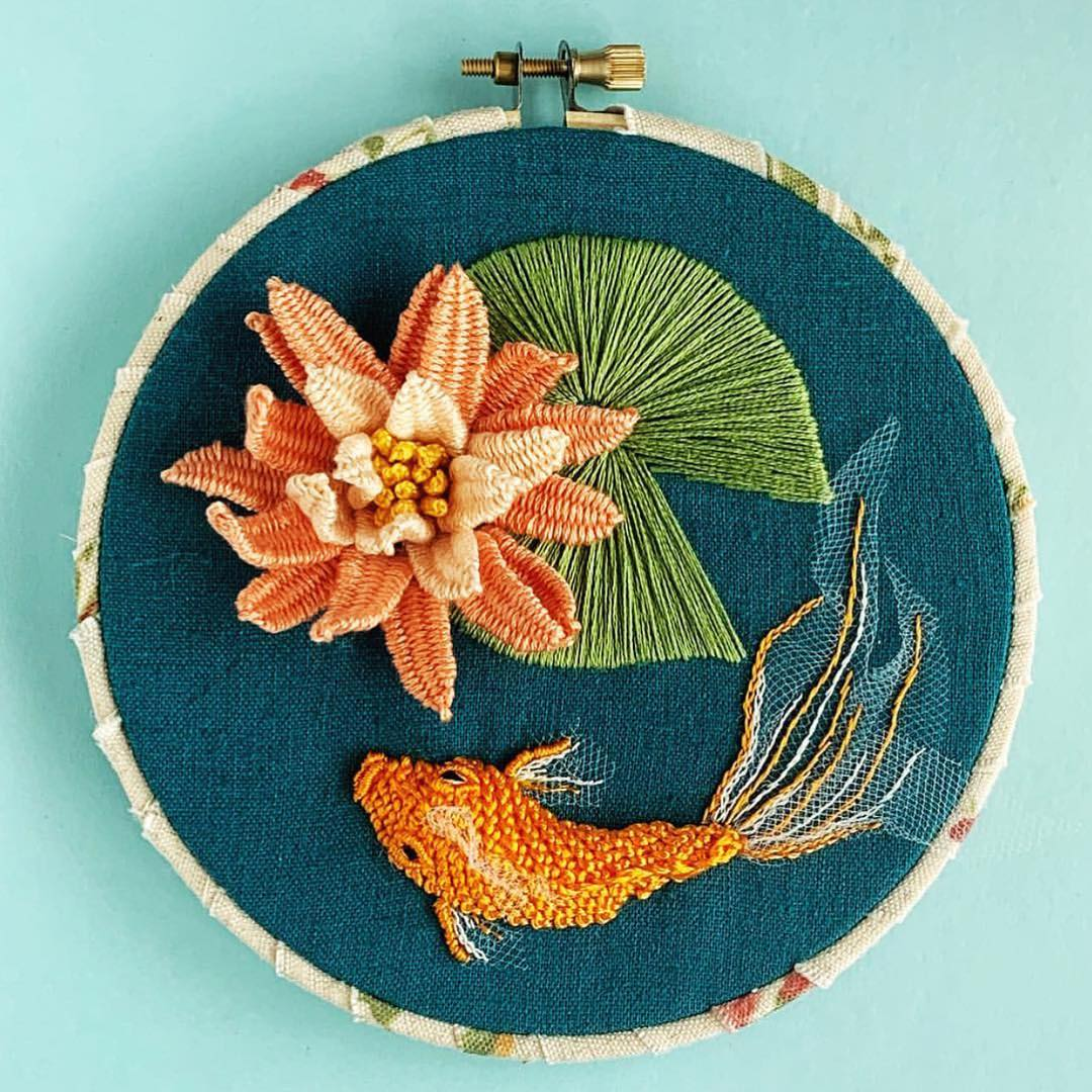 embroidery_instaguild via @carriegoffdesigns instagram embroidery