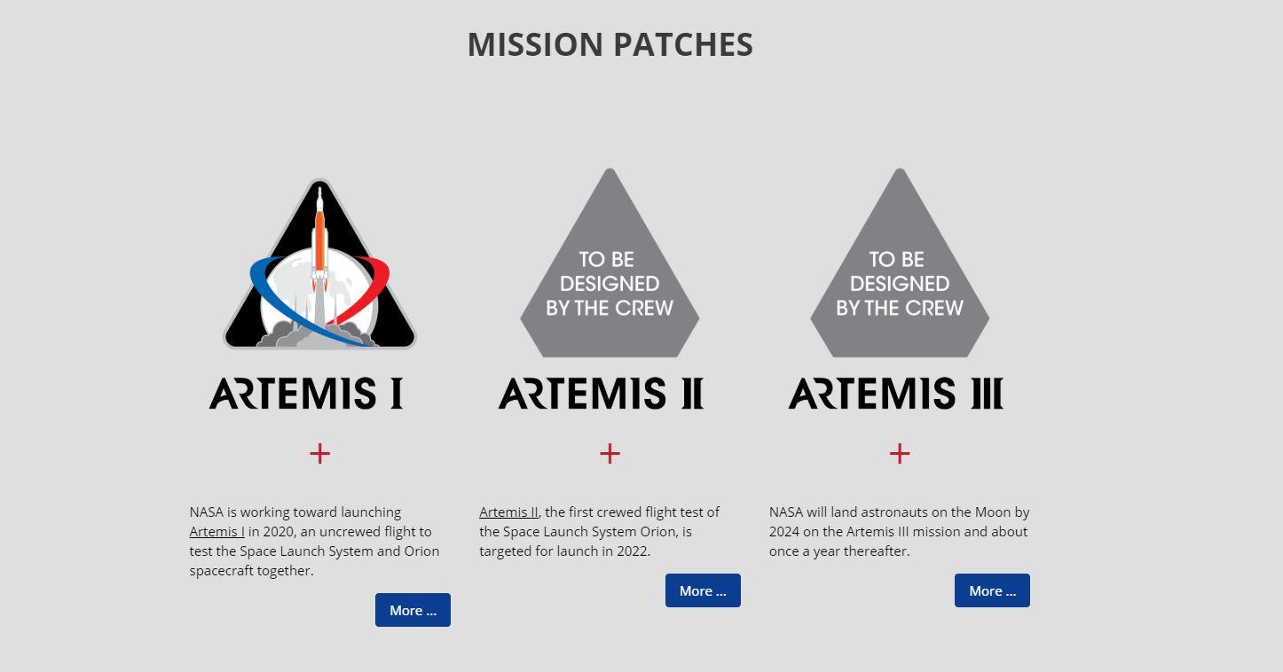 Artemis Program Patches
