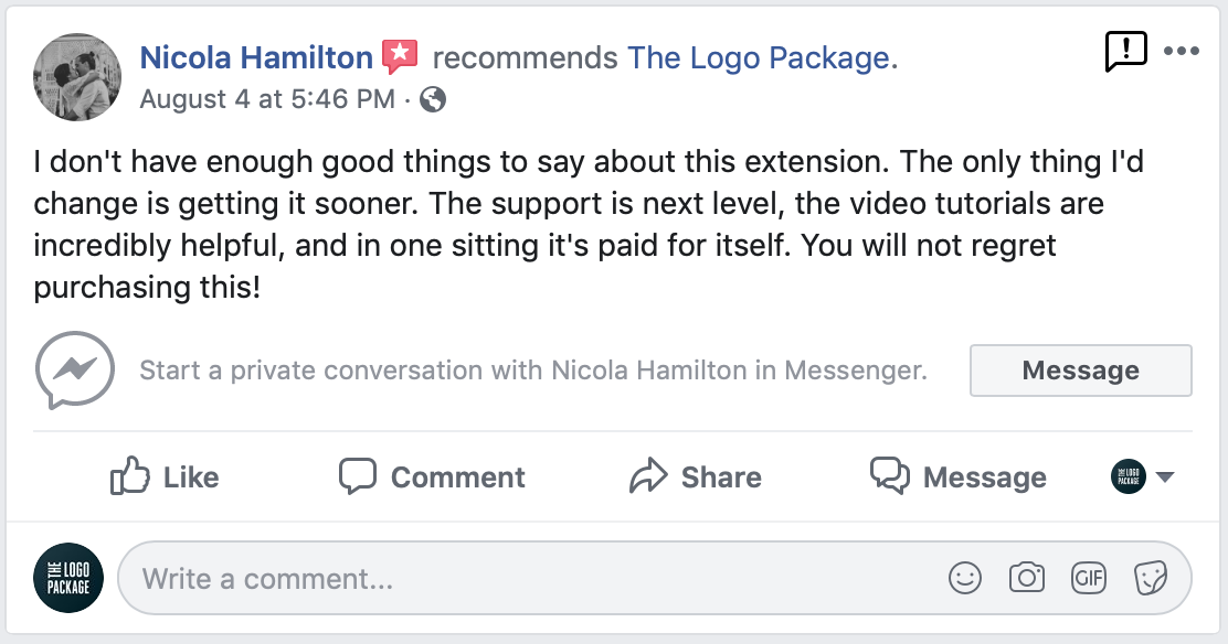 The Logo Package Express Testimonial