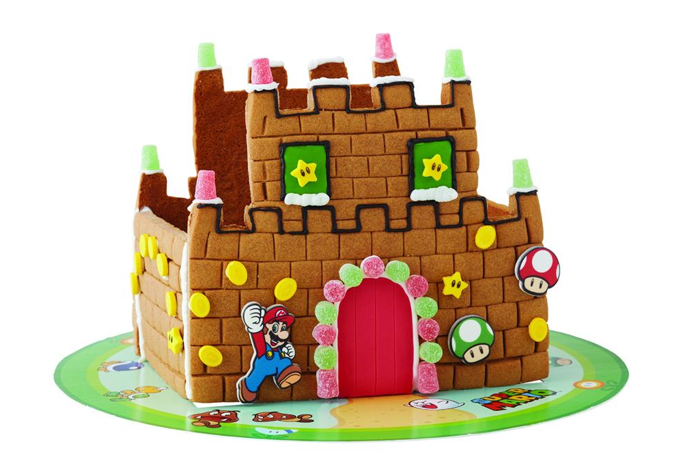 Super Mario Gingerbread House