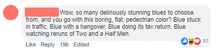 Anti Classic Blue Comment