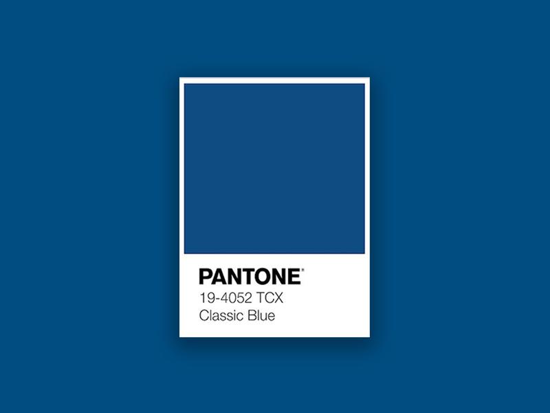 Pantone Classic Blue Swatch