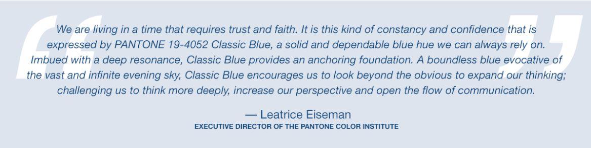 Pantone Classic Blue Quote