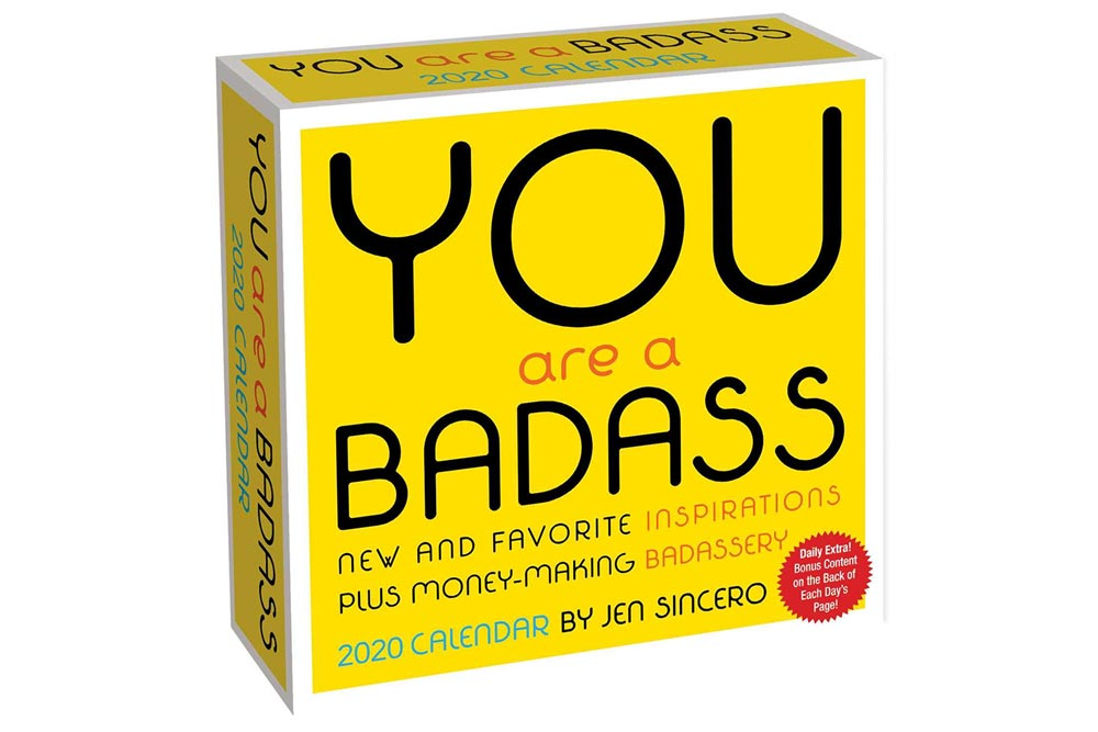 You Are A Badass 2020 Daily Calendar Stocking Stuffers